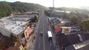 Gatlinburg Tennessee Aerial drone footage Stock Photography