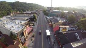 Gatlinburg Tennessee Aerial surrlängd i fot räknat stock video