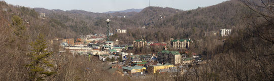 Gatlinburg Tennessee (panoramic) Stock Images