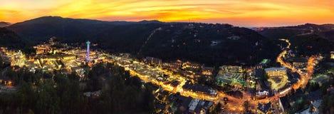 Gatlinburg,TN city view sunset royalty free stock photo