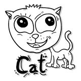 Gato adorável Fotos de Stock Royalty Free