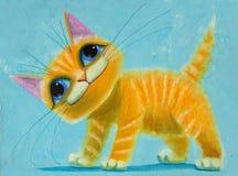 Gato alaranjado ilustração royalty free