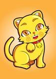 Gato amarelo Imagens de Stock Royalty Free