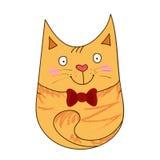 Gato amarelo bonito ilustração stock