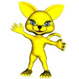 Gato amarillo 1 del manga Foto de archivo