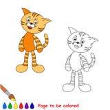 Gato anaranjado del juguete del gato atigrado Imagenes de archivo