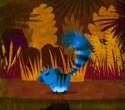 Gato azul en selva Foto de archivo libre de regalías