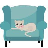 Gato bege adorável da vaquinha ilustração stock