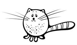 Gato blanco y negro 3 stock de ilustración