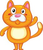 Gato bonito ilustração royalty free