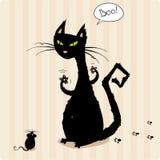 Gato bonito ilustração do vetor