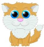 Gato bonito do gengibre dos desenhos animados Fotos de Stock Royalty Free