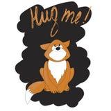 Gato bonito dos desenhos animados que pede um abraço Ilustração do vetor Fotografia de Stock Royalty Free