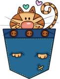 Gato bonito no bolso ilustração stock