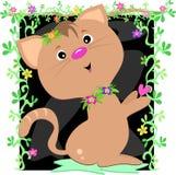 Gato bonito no frame das videiras Fotos de Stock