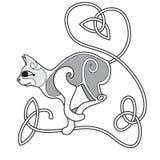 Gato celta com a cauda atada coração ilustração royalty free