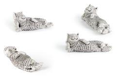 Gato cerâmico preguiçoso Foto de Stock