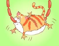 Gato codicioso Foto de archivo