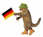 Gato com bandeira alemão imagens de stock royalty free