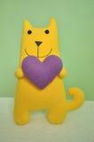 Gato com coração Foto de Stock Royalty Free