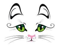 Gato con los ojos verdes Foto de archivo