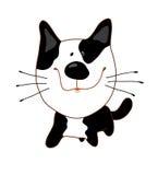 Gato con los puntos negros Imagenes de archivo