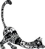 Gato con un ornamento Fotografía de archivo