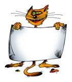 Gato con un papel stock de ilustración