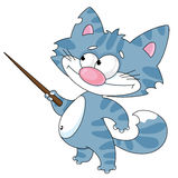 Gato con un puntero Imagen de archivo libre de regalías