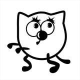 Gato da animação Ilustração Imagens de Stock Royalty Free