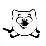 Gato da animação ilustração A Imagem de Stock