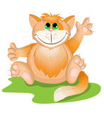 Gato da laranja dos desenhos animados Fotos de Stock Royalty Free