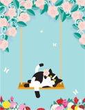 Gato de balanceo Imagen de archivo libre de regalías
