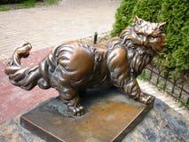 Gato de bronze Fotos de Stock