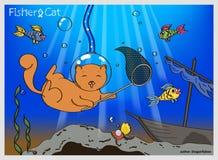 Gato de Fisher Ilustración del Vector