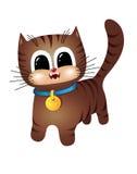 Gato de gato malhado de Brown Imagens de Stock