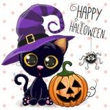 Gato de Halloween ilustración del vector