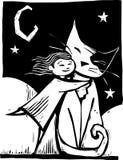 Gato de Huggy ilustração royalty free