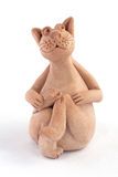 Gato de la arcilla con el ratón Imagenes de archivo