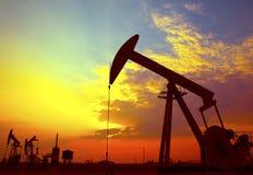 Gato de la bomba de petróleo Foto de archivo