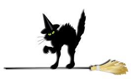 Gato de la bruja Imágenes de archivo libres de regalías