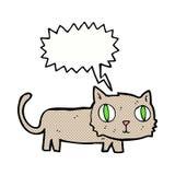 gato de la historieta con la burbuja del discurso Fotografía de archivo