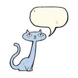 gato de la historieta con la burbuja del discurso Foto de archivo libre de regalías