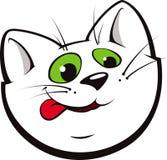 Gato de la historieta que lame sus tajadas Imágenes de archivo libres de regalías