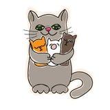 Gato de la mamá Imágenes de archivo libres de regalías