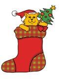 Gato de la Navidad ilustración del vector