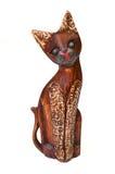 Gato de madeira Imagens de Stock