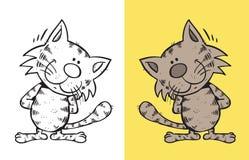 Gato de sorriso Ilustração Royalty Free