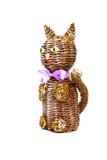 Gato decorativo isolado no branco Imagens de Stock Royalty Free