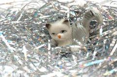 Gato del Año Nuevo Imágenes de archivo libres de regalías
